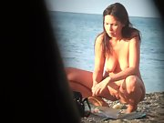 Beautiful girl nudist witnessed and filmed on the romanian beach