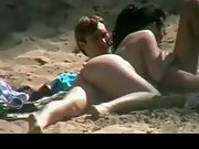 Bootie nude gf sucking her beau's fat cock at the beach