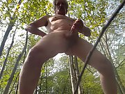 Male masturbate nudist naked woods