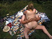 Smashing outdoors in public park on a sunny day sex in public place