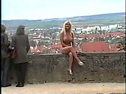 Naturist nude in public blonde