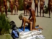 Group of super-naughty swingers watching duo having passionate doggystyle sex