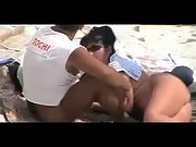 Ass nude wife gives her strong hubby a nice blowjob at the local beach